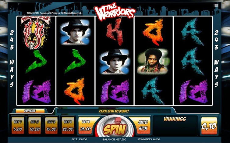 slot machine the warriors