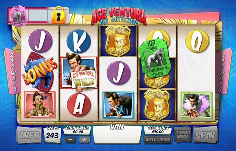 Ace ventura la slot playtech