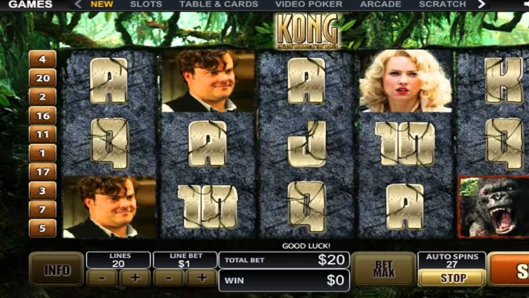 la slot machine di king kong