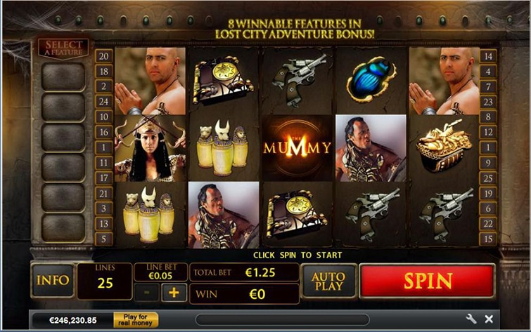 the mummy slot machine aams online playtech